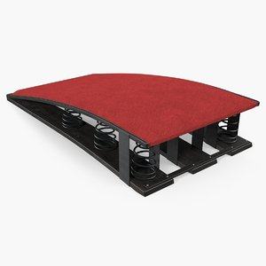 gymnastic spring board 3D model