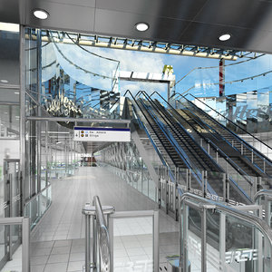 3D metro station subway