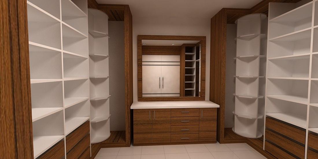dressing room design 3D model