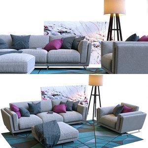 sofas seating 3D