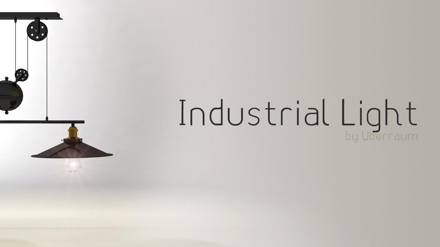 hanging industrial light 3D model