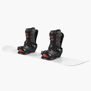 3D snowboard nitro staxx bindings