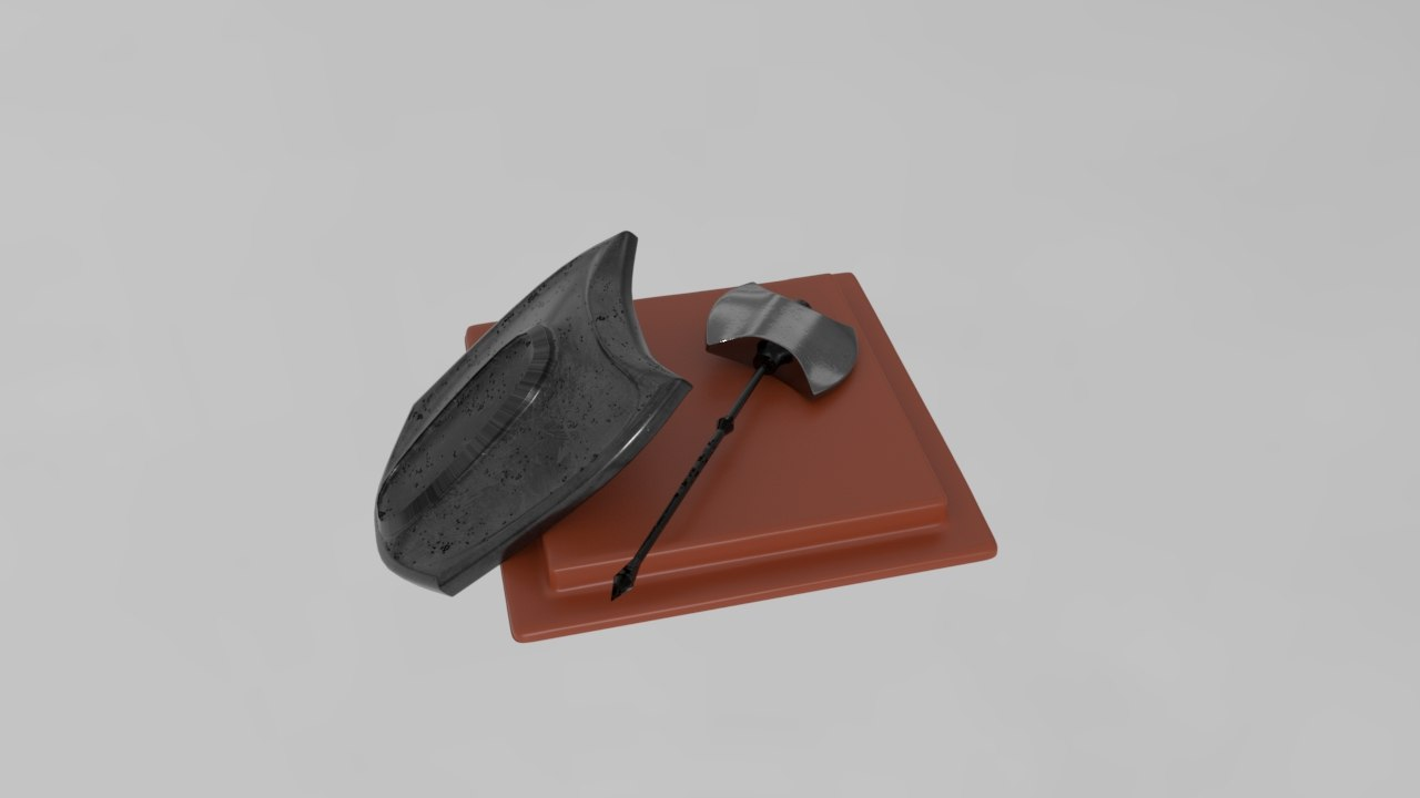 3D medieval weapons model