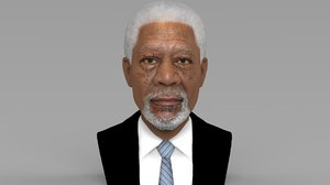 morgan freeman bust ready 3D
