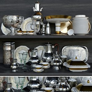 3D dishes set
