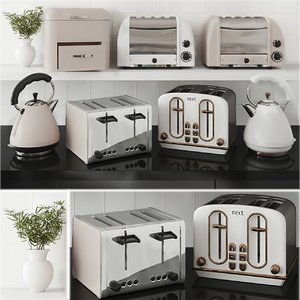 3D kitchen appliances