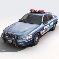 3ds car police supervisor