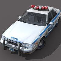 car new york city 3d model