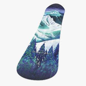 3D jones snowboard snow board