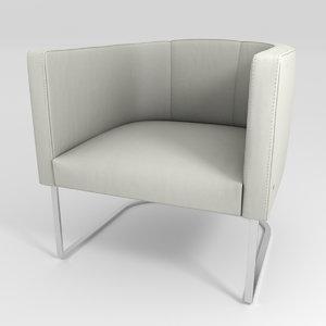 armchair ds-207 sede 3D model