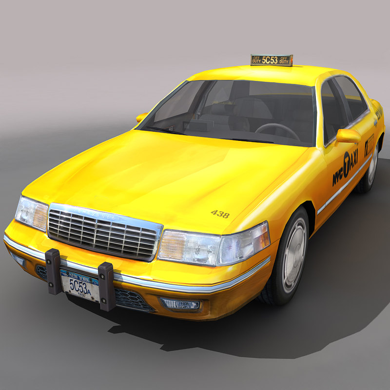 nyc taxi cars city 3d max