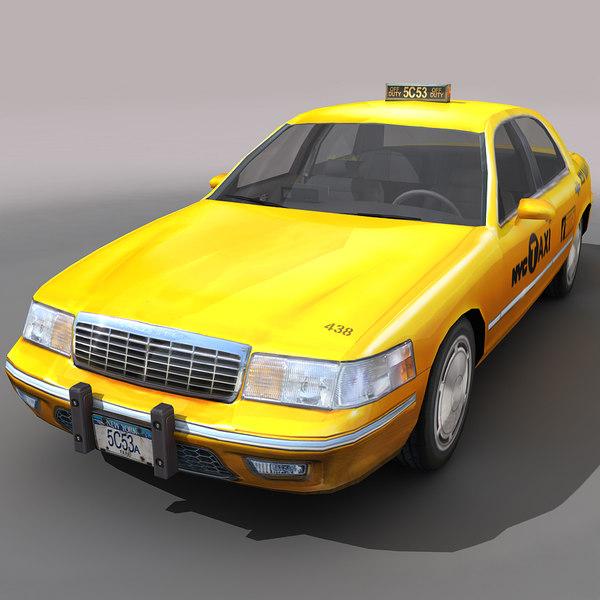 nyc taxi cars city 3d max