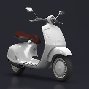 high-poly vespa 946 model