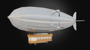3D zeppelin airship