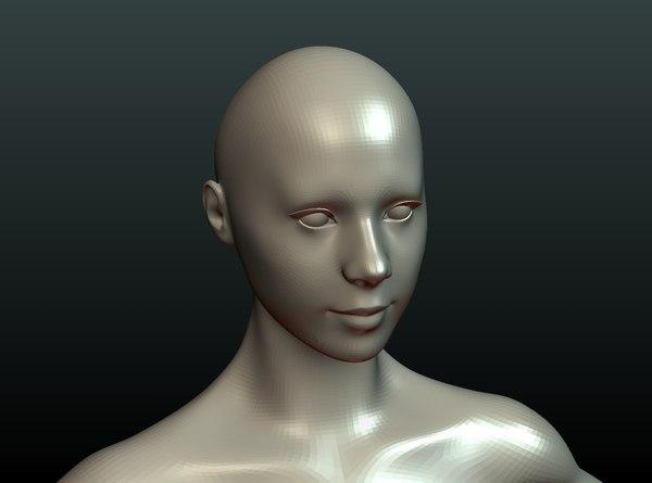 girl base mesh 3D