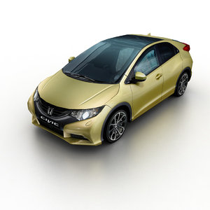 2011 honda civic hatchback 3d model