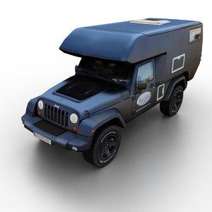 3d 2013 jeep wrangler actioncamper