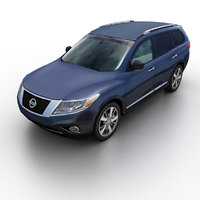 3d model of 2013 nissan pathfinder suv