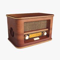 3D model vintage retro radio