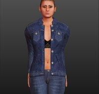 3D hot girl tight jeans model