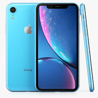 apple iphone xr blue 3D model