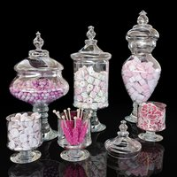 3D corona jars candies marshmallows