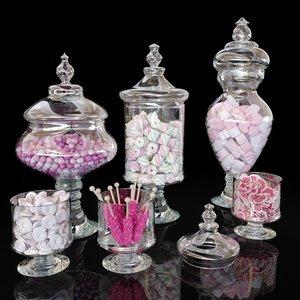 3D corona jars candies marshmallows