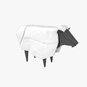 origami sheep 3D