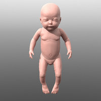 3D model baby human character