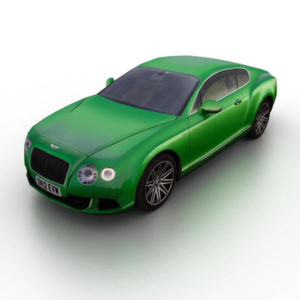 2013 bentley continental gt 3d model