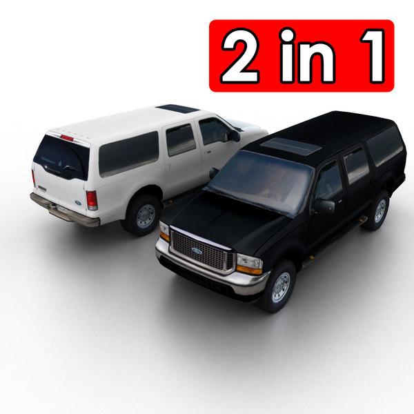 3d model excursion suv