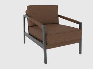 3D kathy armchair fendi casa model