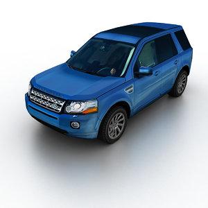 3d model 2012 land rover freelander