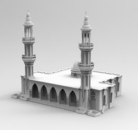 mosque dubai model