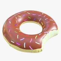3D pool toy doughnut