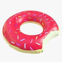 pool toy doughnut 3D