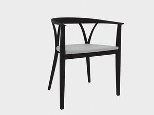 3D donzelletta dinning chair michele model