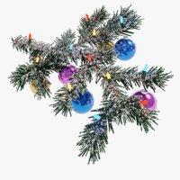 christmas branch 3D model