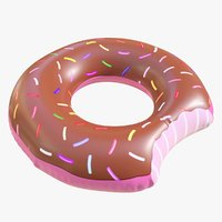 3D model pool toy doughnut 08