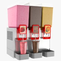 3D model milk shake drink dispenser