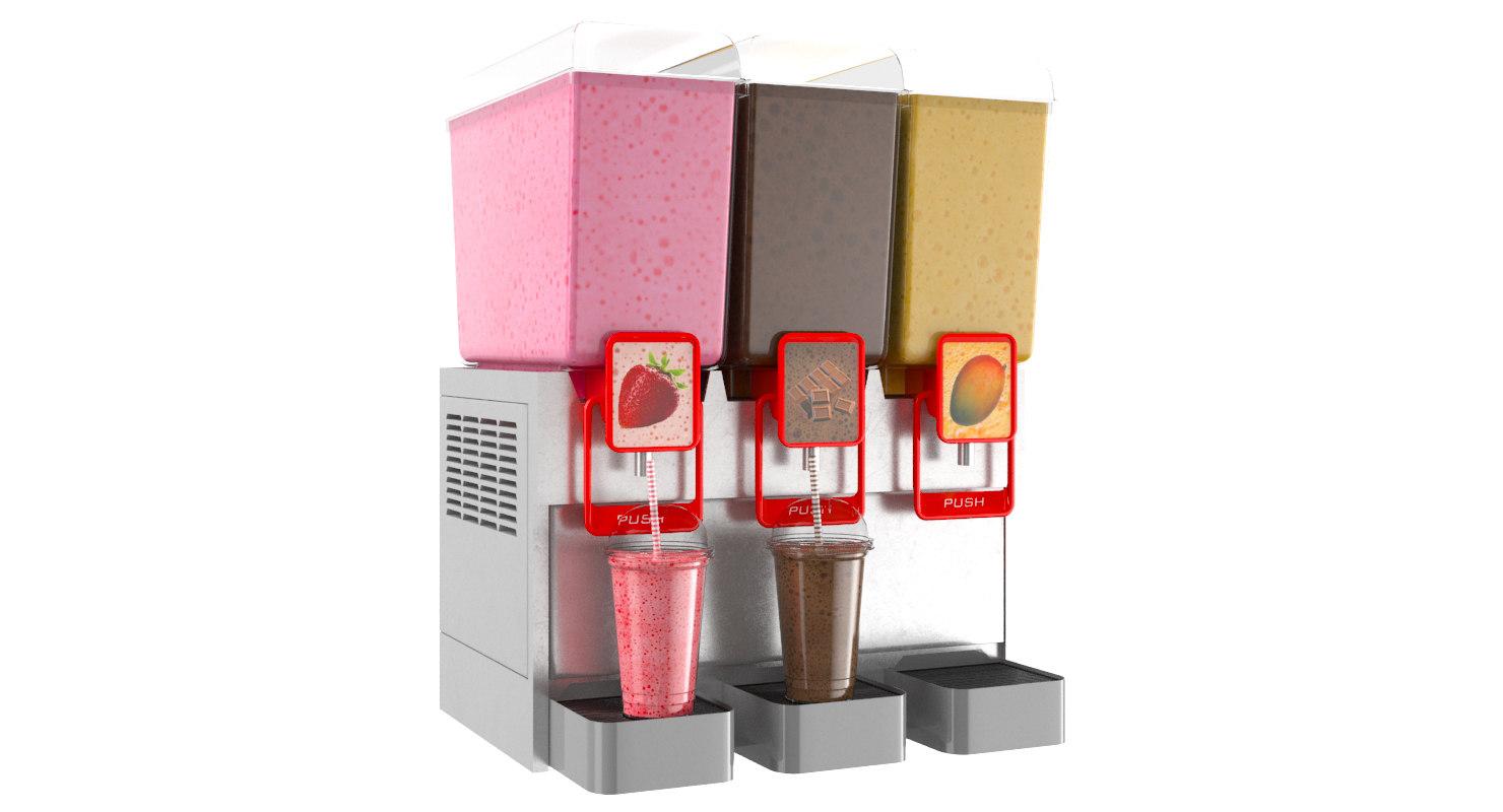 3D model milk shake drink dispenser