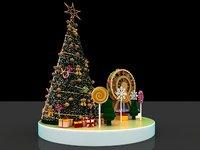 3D art display model