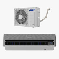 Samsung Air Conditioner 3D Models Collection