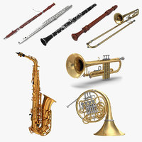 Wind Instruments 3D Models Collection 4