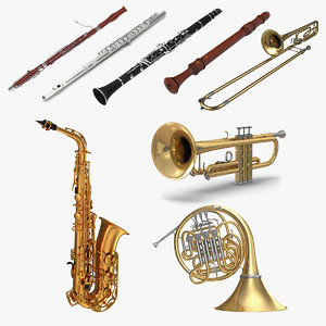 wind musical instruments 4 model