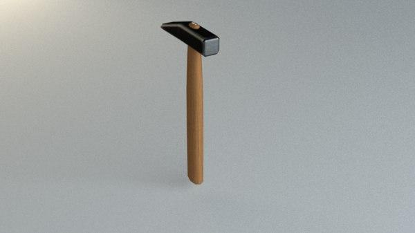 3D hammer pbr model
