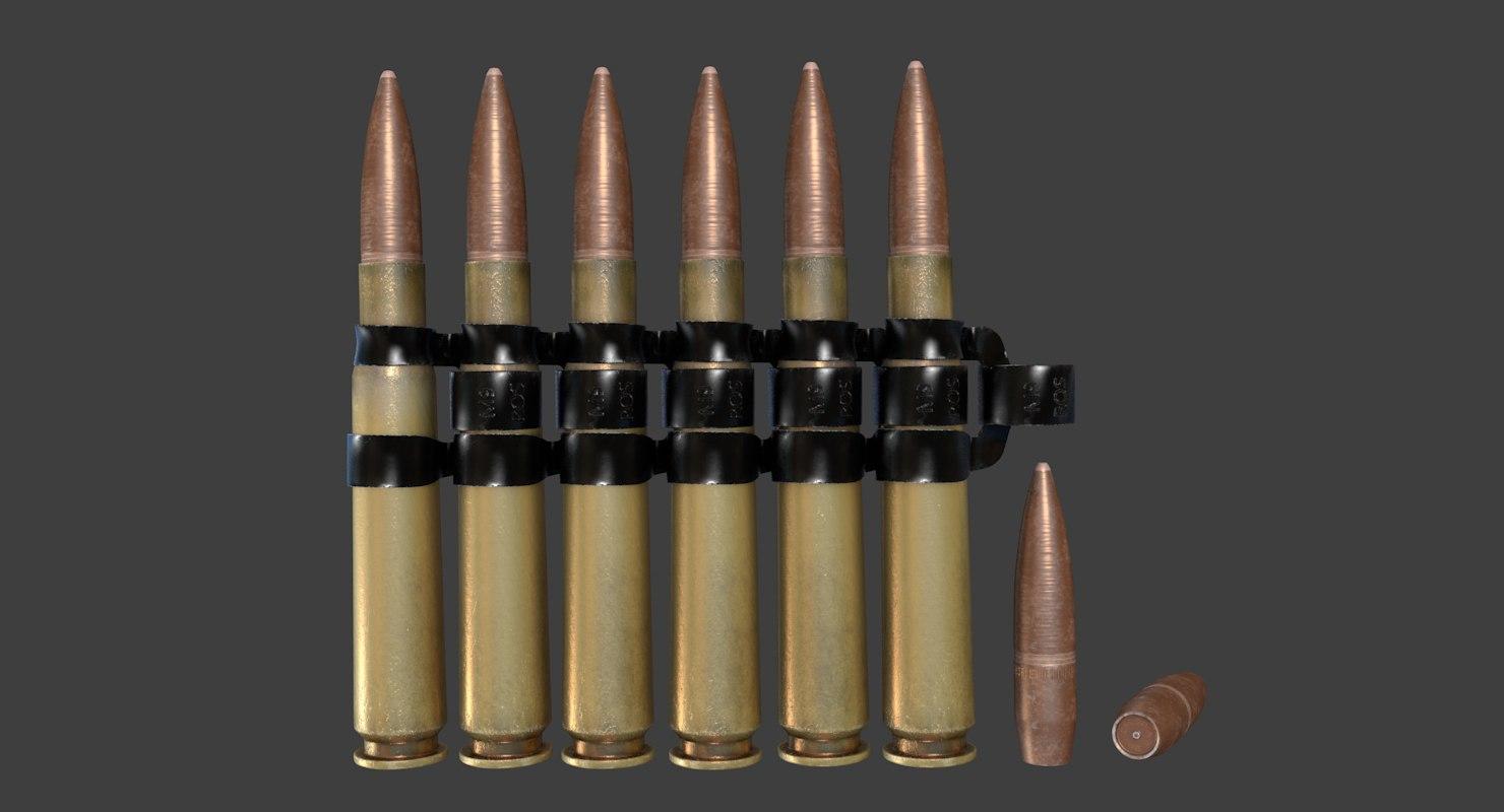 m9 bmg cal 50 3D model