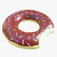 pool toy doughnut 3D model