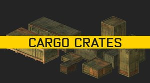 cargo crates 3D