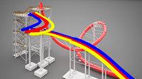 3D water park slides